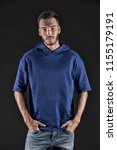 man concept. bearded man in... | Shutterstock . vector #1155179191