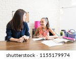 private tutor and female... | Shutterstock . vector #1155179974
