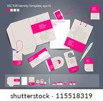vector corporate design for... | Shutterstock .eps vector #115518319