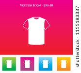 t shirt icon in colored square... | Shutterstock .eps vector #1155183337