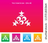 holly berries icon in colored... | Shutterstock .eps vector #1155183364