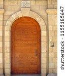 photo of an old wooden door | Shutterstock . vector #1155185647