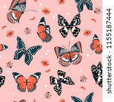 sweet tone of butterflies... | Shutterstock .eps vector #1155187444