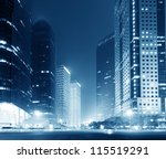 the night view of the lujiazui... | Shutterstock . vector #115519291