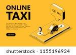 online taxi vector illustration ...   Shutterstock .eps vector #1155196924