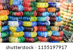 glass bangles are special thing ... | Shutterstock . vector #1155197917