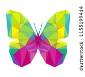 geometric butterfly with many... | Shutterstock .eps vector #1155199414