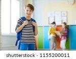 cheerful confident handsome... | Shutterstock . vector #1155200011