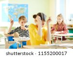 angry school bully throwing...   Shutterstock . vector #1155200017