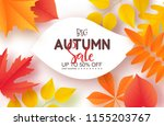 autumn sale poster with...