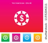 casino chip icon in colored... | Shutterstock .eps vector #1155204211