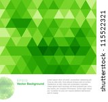green abstract geometrical