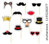 carnival masks set with... | Shutterstock .eps vector #1155230377