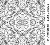 monochrome seamless tile... | Shutterstock .eps vector #1155235021