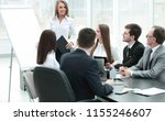business woman conducting a... | Shutterstock . vector #1155246607
