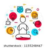 vector business illustration of ... | Shutterstock .eps vector #1155248467