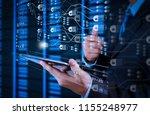 blockchain technology concept... | Shutterstock . vector #1155248977