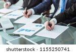 hands business team that works... | Shutterstock . vector #1155250741