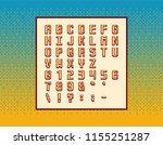 retro vector pixel video game... | Shutterstock .eps vector #1155251287