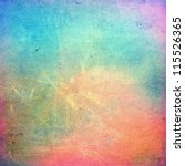 colorful scratched vintage... | Shutterstock . vector #115526365