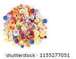 colorful sewing buttons on... | Shutterstock . vector #1155277051