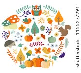 autumn harvest and thanksgiving ... | Shutterstock .eps vector #1155277291