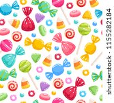 colorful sweets icons... | Shutterstock .eps vector #1155282184