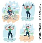 vector cartoon illustration of... | Shutterstock .eps vector #1155282817