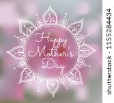 mother's day poster with floral ... | Shutterstock .eps vector #1155284434