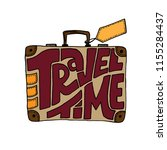 travel time poster. hand drawn... | Shutterstock .eps vector #1155284437