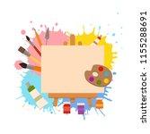 painting tools elements cartoon ... | Shutterstock .eps vector #1155288691
