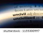 Small photo of uncivil word in a dictionary. uncivil concept.