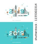 infographic concept  2019  ... | Shutterstock .eps vector #1155302314