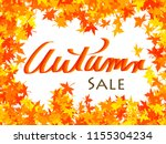 autumn   brightly colored leaves | Shutterstock . vector #1155304234