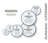 unique infographics template | Shutterstock .eps vector #1155304684