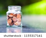saving money concept.coin in... | Shutterstock . vector #1155317161