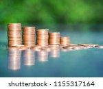 saving money concept.coin in... | Shutterstock . vector #1155317164