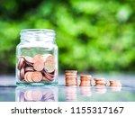 saving money concept.coin in... | Shutterstock . vector #1155317167