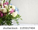 beautiful spring flowers on... | Shutterstock . vector #1155317404