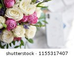 beautiful spring flowers on... | Shutterstock . vector #1155317407