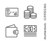 simple set of money line icons  ... | Shutterstock .eps vector #1155321361