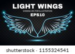 neon wings. fire and flame.... | Shutterstock .eps vector #1155324541