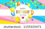 realistic glossy and... | Shutterstock .eps vector #1155325471
