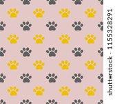seamless pattern with kitten... | Shutterstock . vector #1155328291