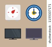 watch icons set. hdtv  second ... | Shutterstock .eps vector #1155337171