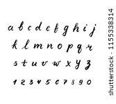 hand drawn vector alphabet.... | Shutterstock .eps vector #1155338314
