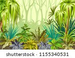 background jungle for video and ... | Shutterstock .eps vector #1155340531