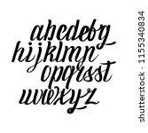 vector eps 10 alphabet.  | Shutterstock .eps vector #1155340834