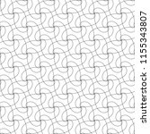 seamless pattern of interlaced... | Shutterstock .eps vector #1155343807