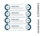 simple modern infographics... | Shutterstock .eps vector #1155348961